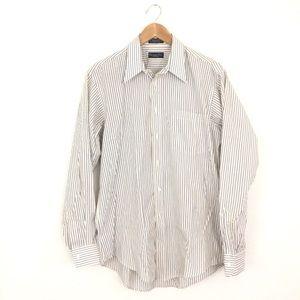 Christian Dior Yellow Stripe Dress Shirt